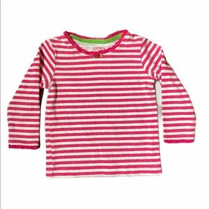 5/$15 Carters Striped White Long Sleeved Tee